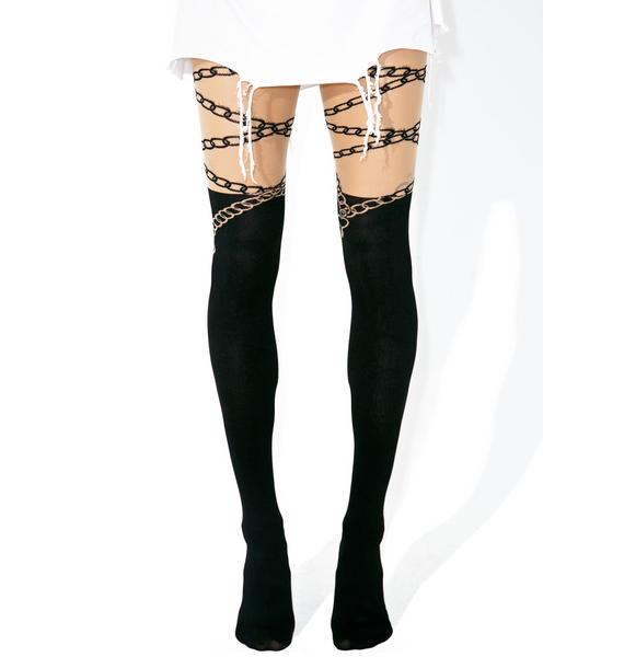 Lock & Key Tights