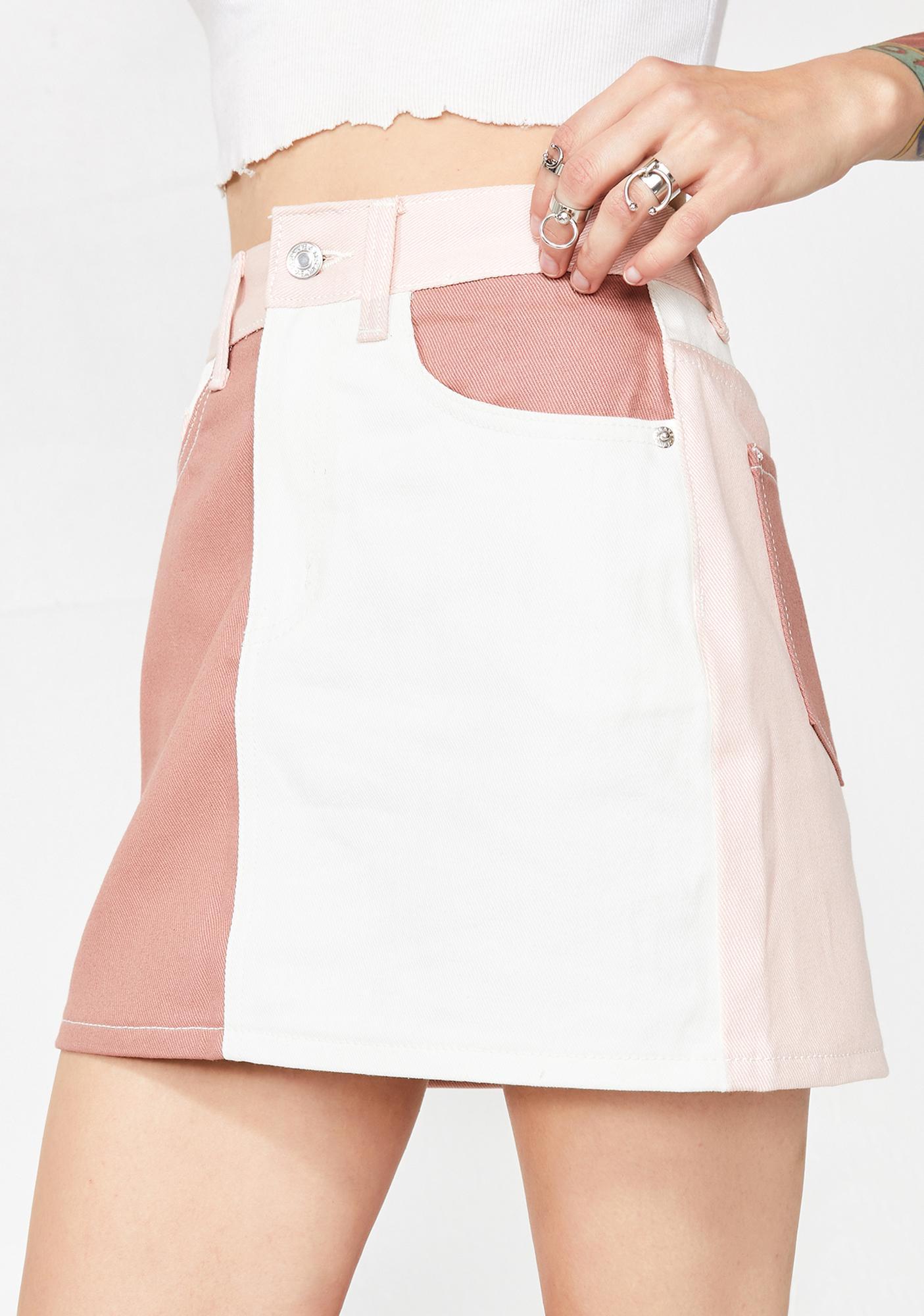 6e6b49129b3e Momokrom Colorblock Skirt | Dolls Kill
