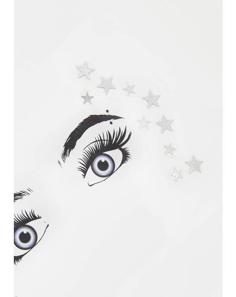 Chrome Starry Eyed Surprise Face Gems