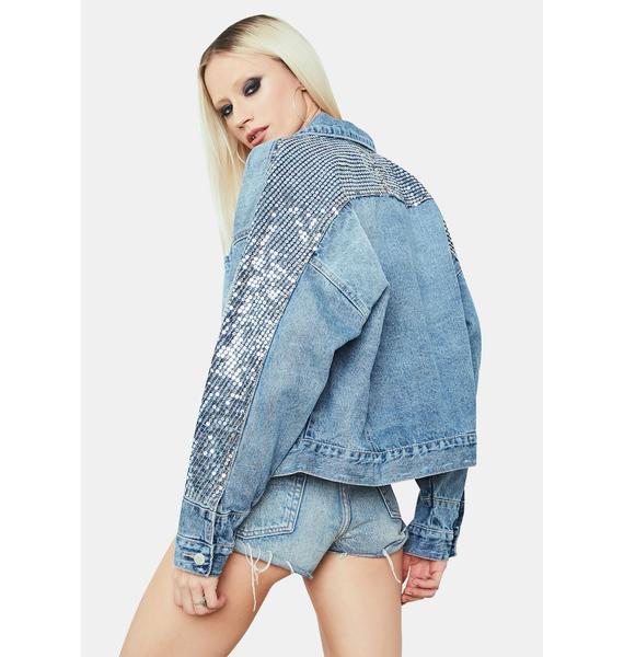 Star Of The Show Sequin Denim Jacket