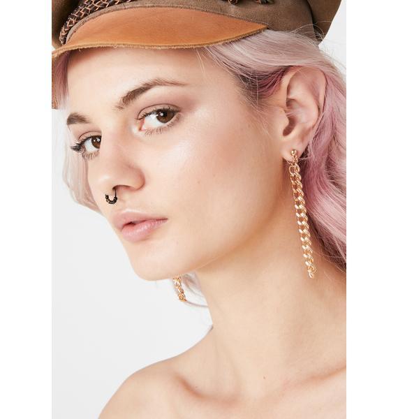 Richer Than You Chain Earrings