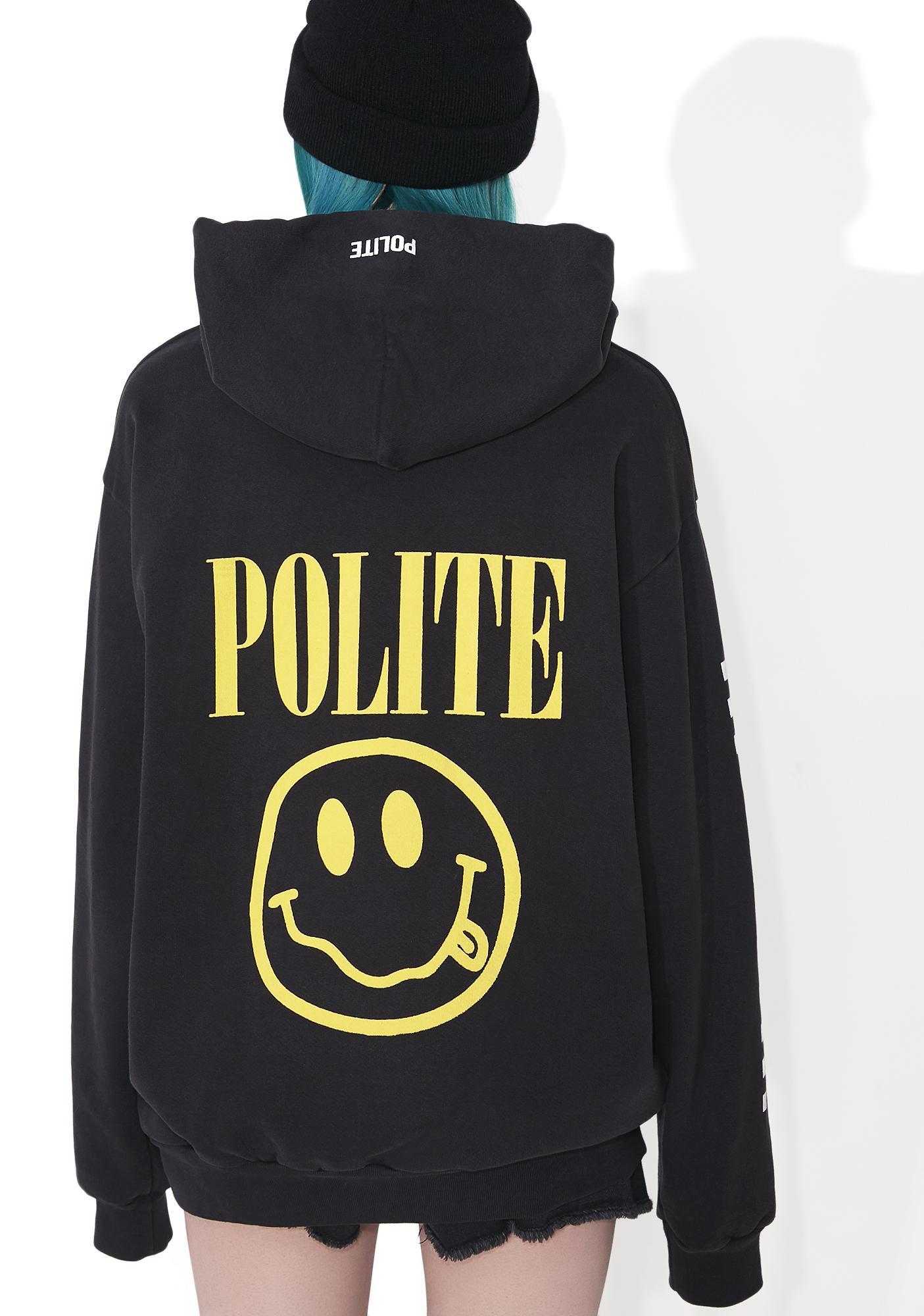 Polite Smiley Pullover Hoodie