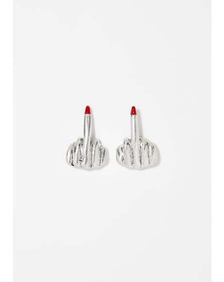 Lady In The Streets Stud Earrings