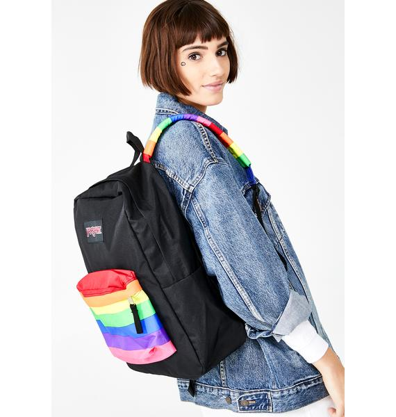 JanSport High Stakes Rainbow Dream Backpack