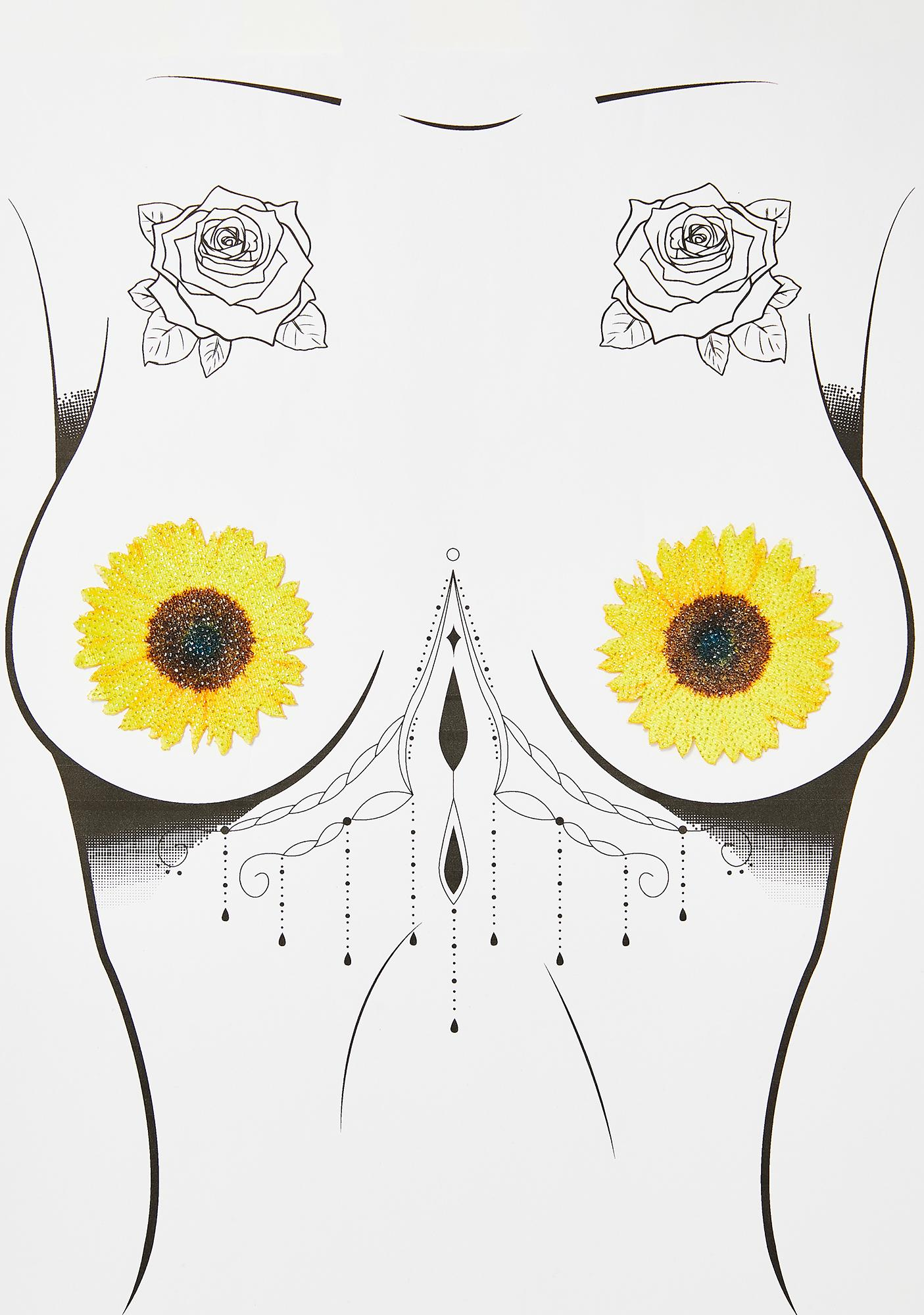 Neva Nude Freaking Awesome Seductive Sunflower Pasties