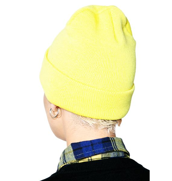 ... HUF X Thrasher Tour De Stoops Yellow Beanie ... 524fb5fd428