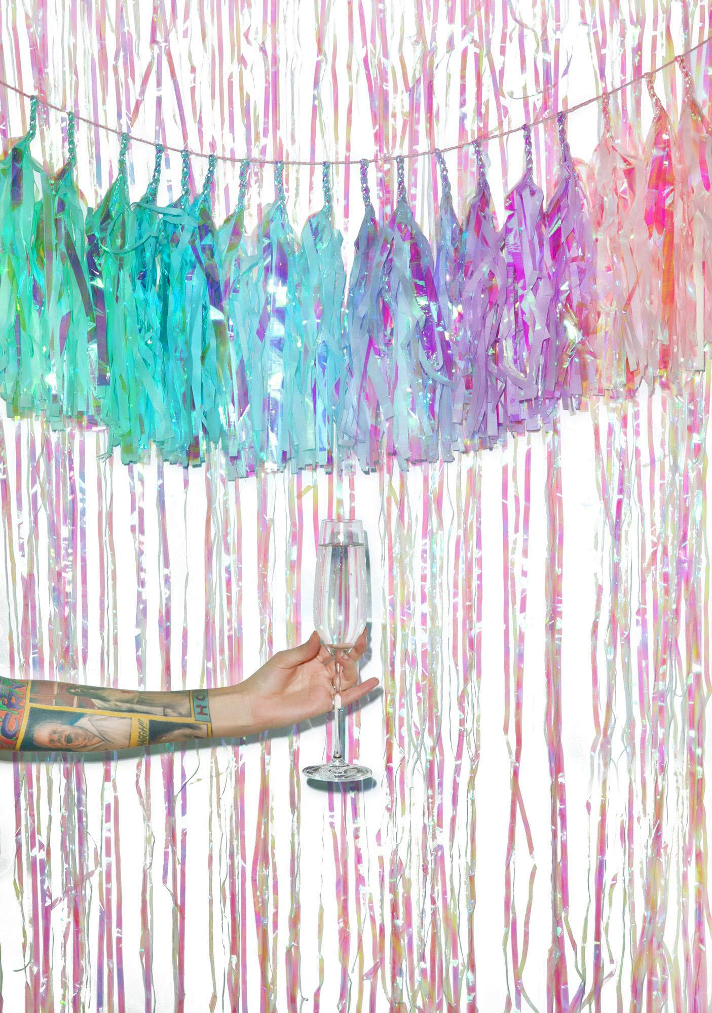 Studio Mucci Mermaid Rainbow Tassel Banner