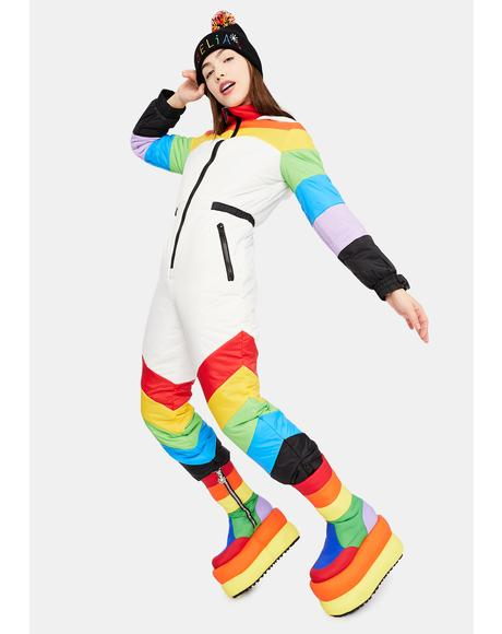 Sweet Retreat Rainbow Puffer Snowsuit