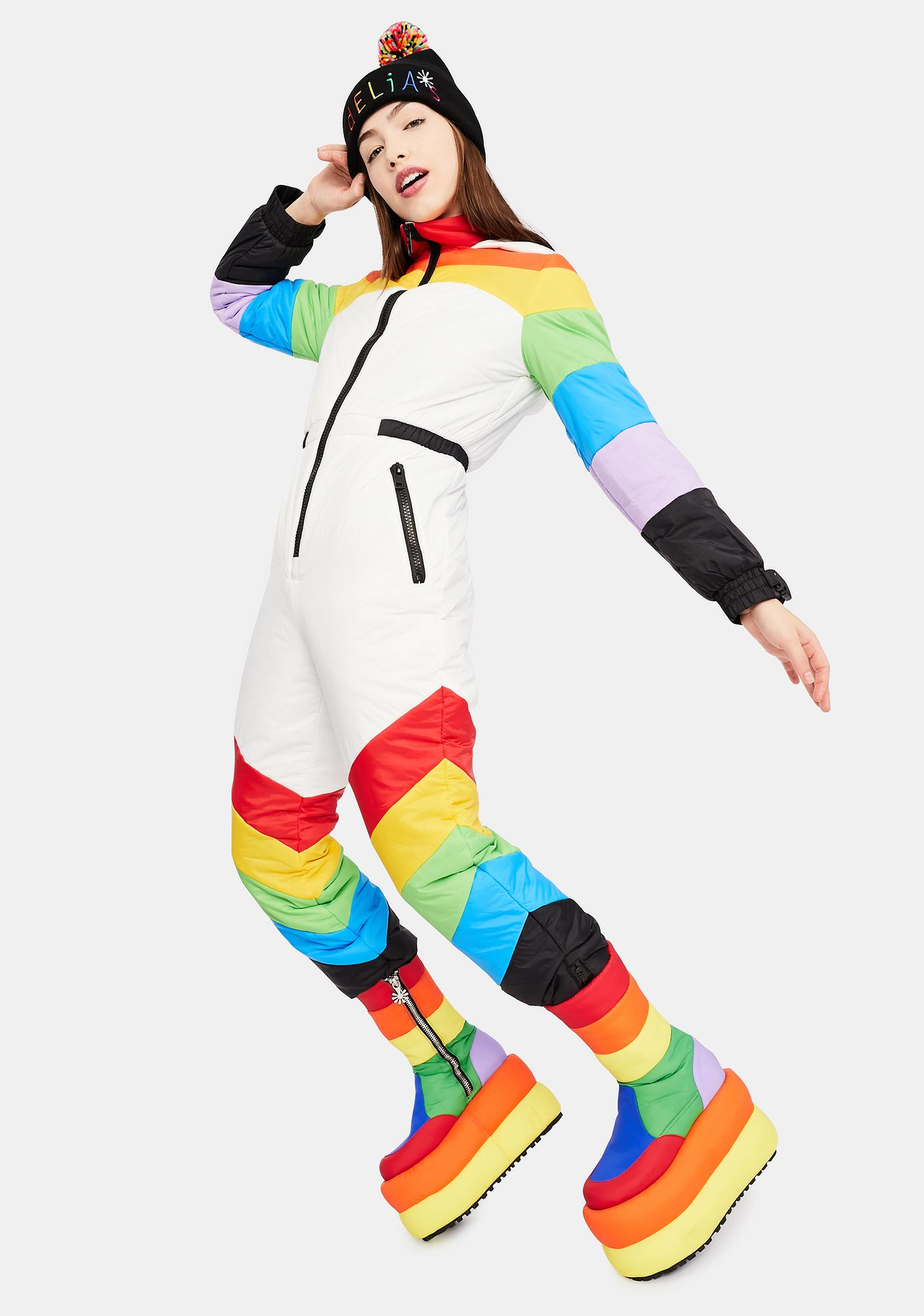 dELiA*s by Dolls Kill Sweet Retreat Rainbow Puffer Snowsuit