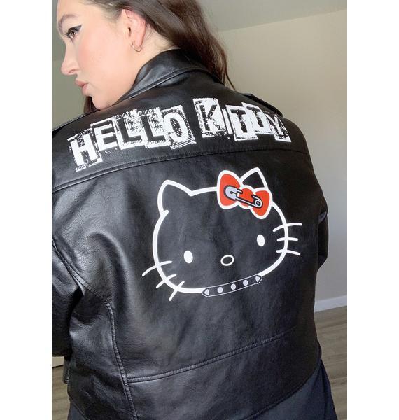 Dolls Kill x Hello Kitty Legit Rebel Grl Moto Jacket