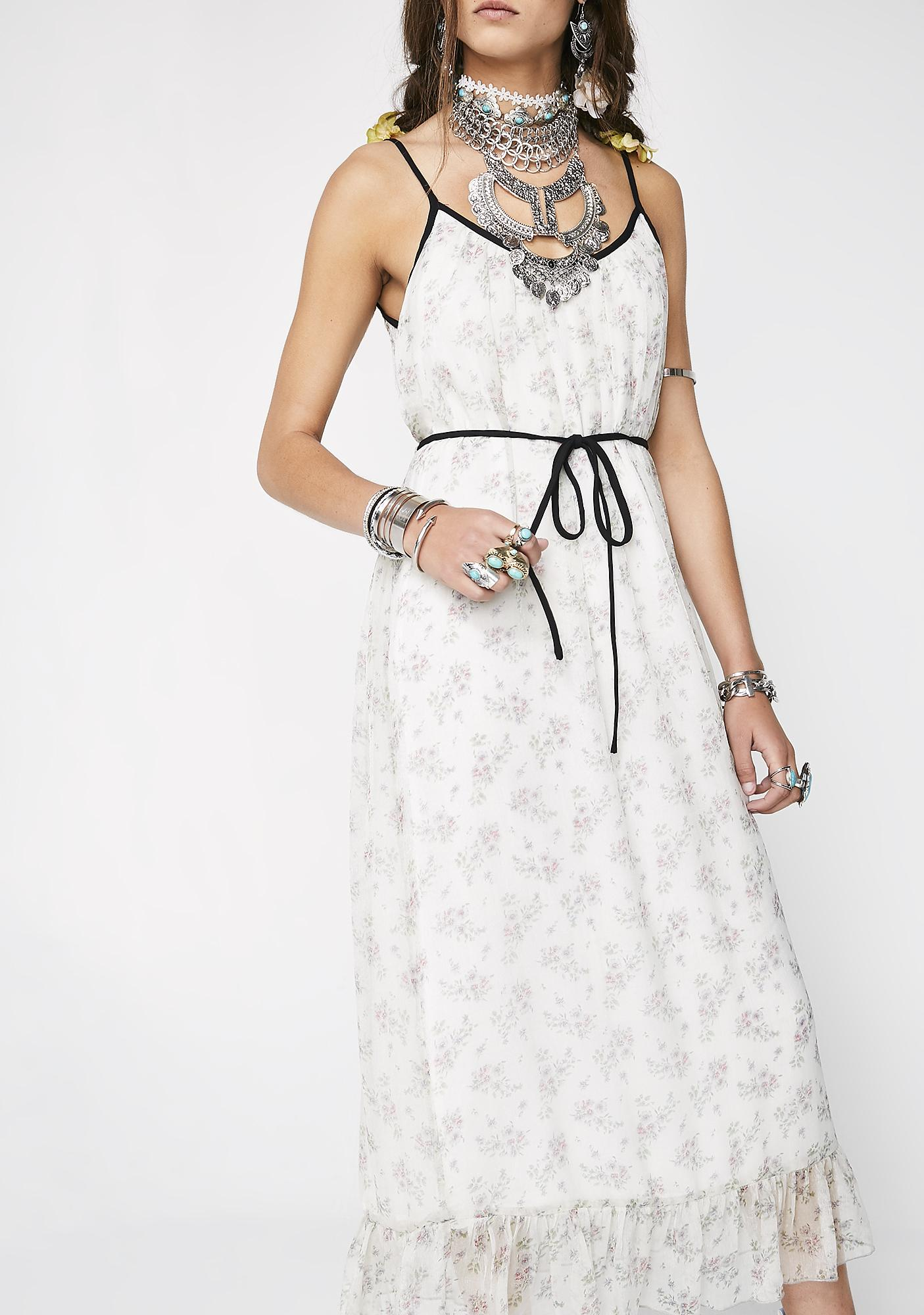 Whimsical Woman Floral Dress