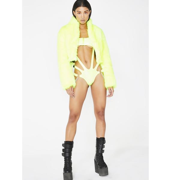 Club Exx Atomic Bliss Cutout Bodysuit