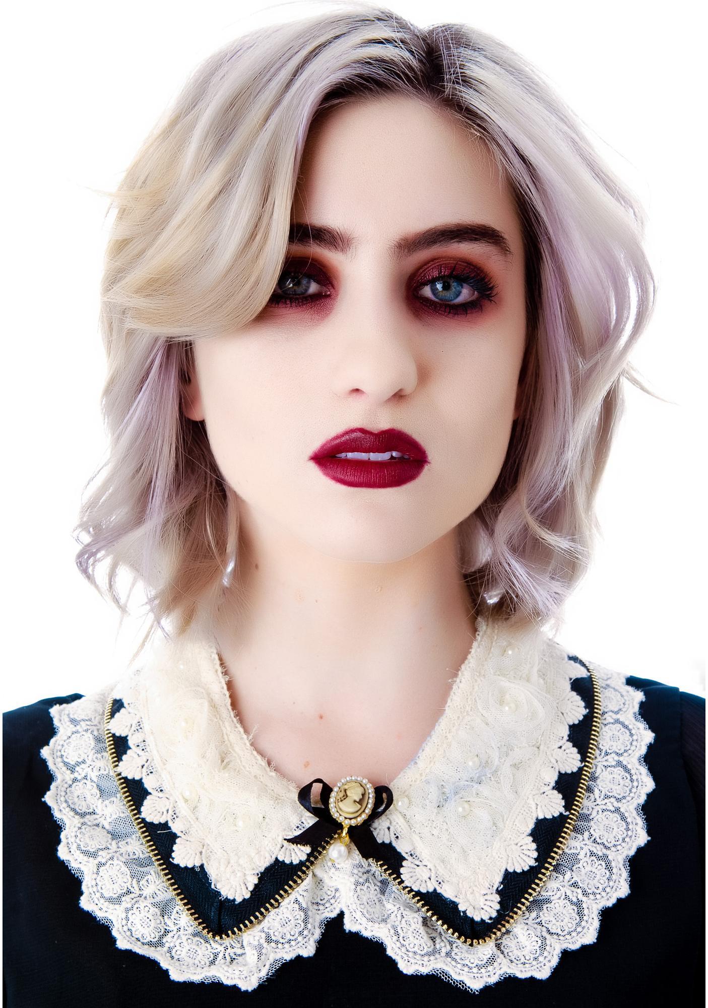 Amandine Lace Zipper Collar Necklace