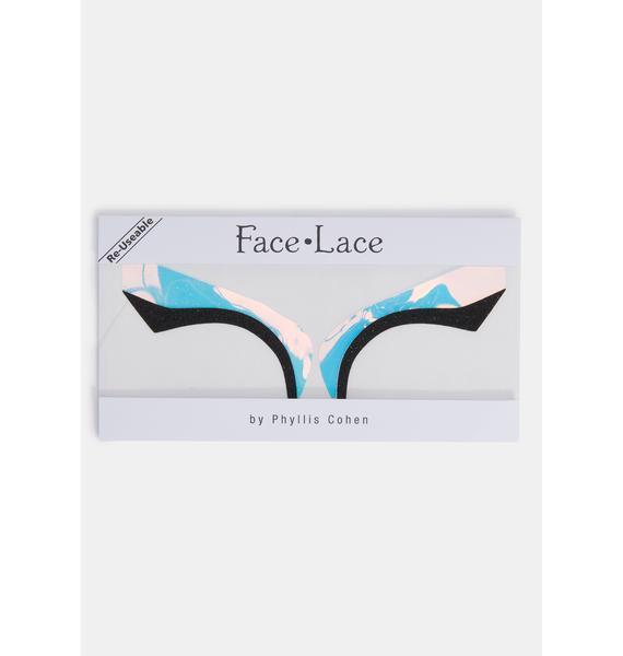 Face Lace Awe-Rora Eye Wings Stickers