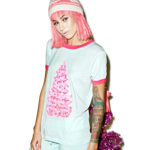 Wildfox Couture Jayne's Tree Vintage Ringer Tee