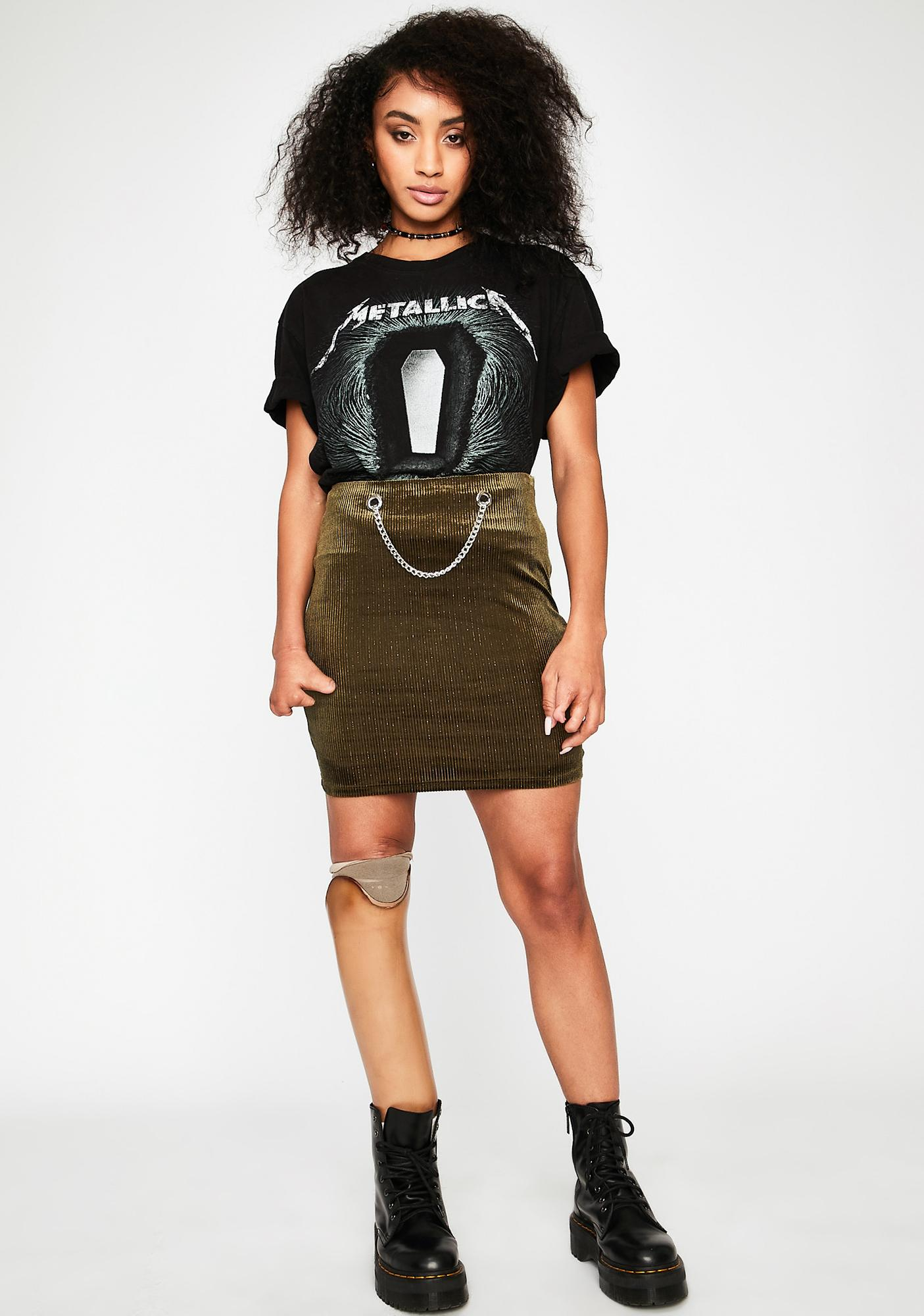 Olive Waiting Game Mini Skirt