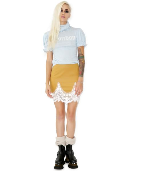 For Love & Lemons Giddy Up Suede Skirt