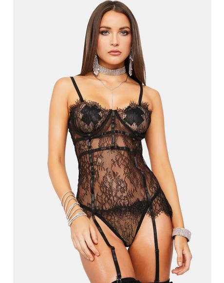 All My Love Lace Bustier Set