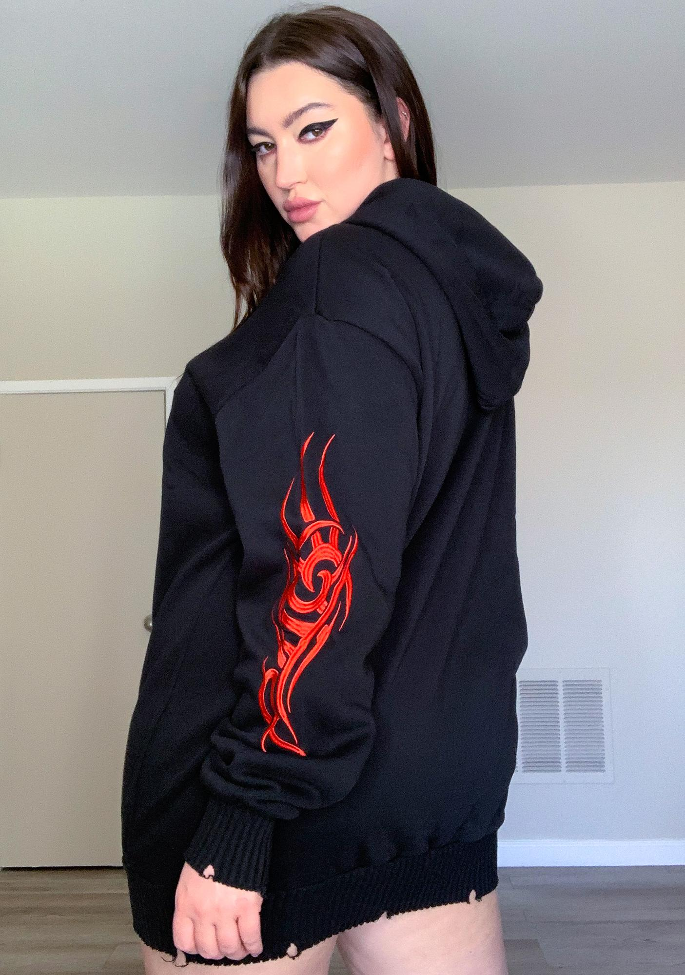 Current Mood Really Looking For Danger Hoodie Dress