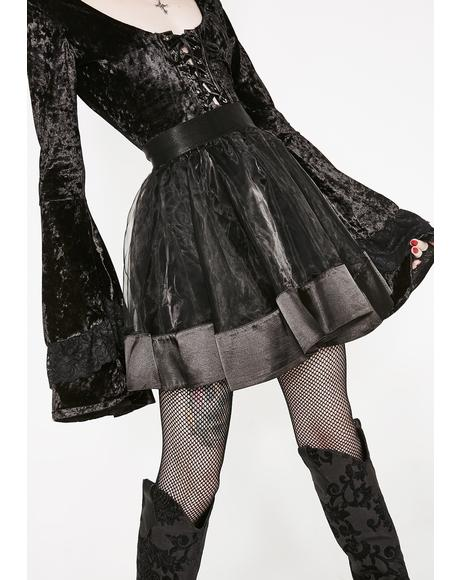 Queen Death Mini Skirt