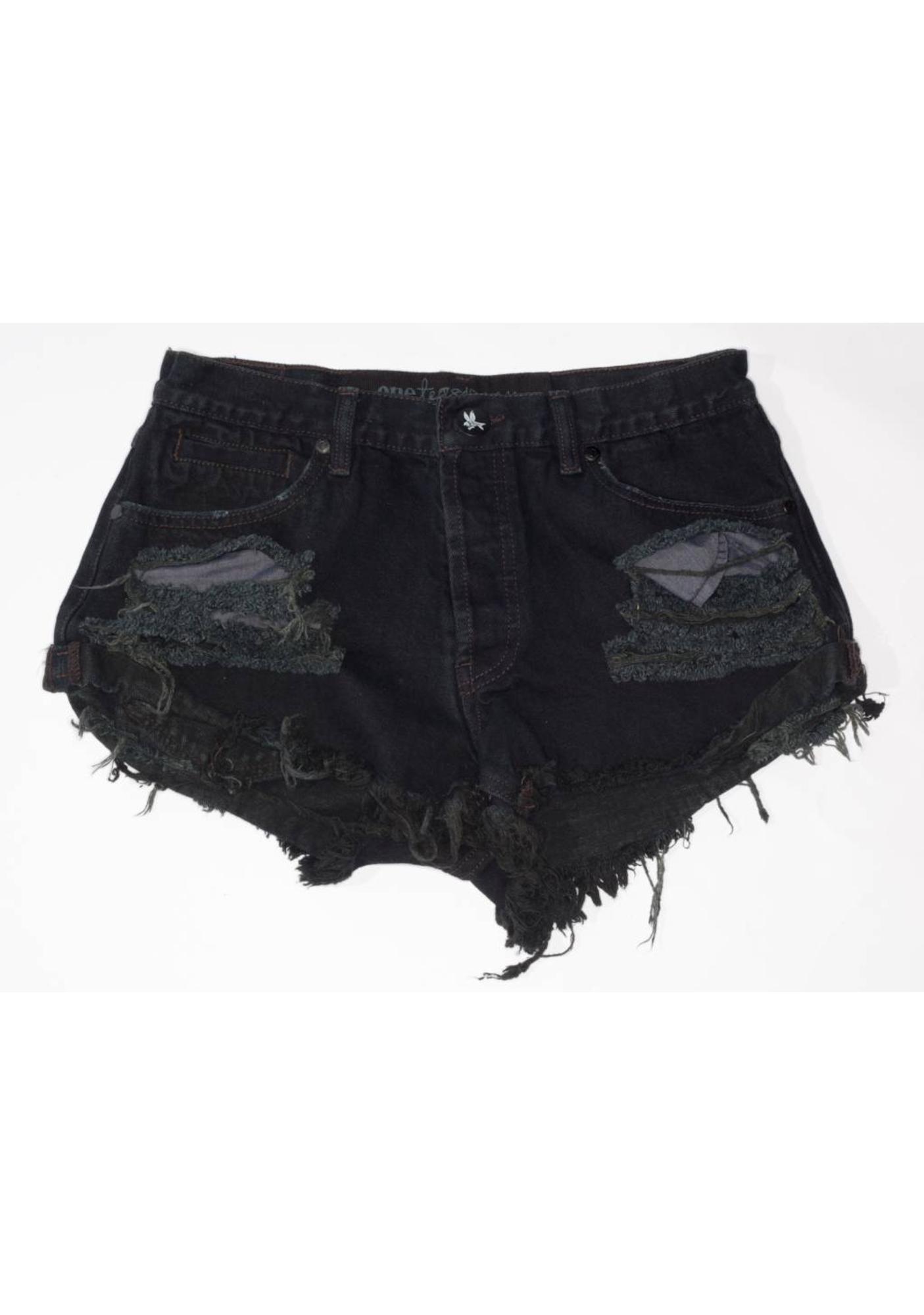 One Teaspoon Trashed Bandits Shorts