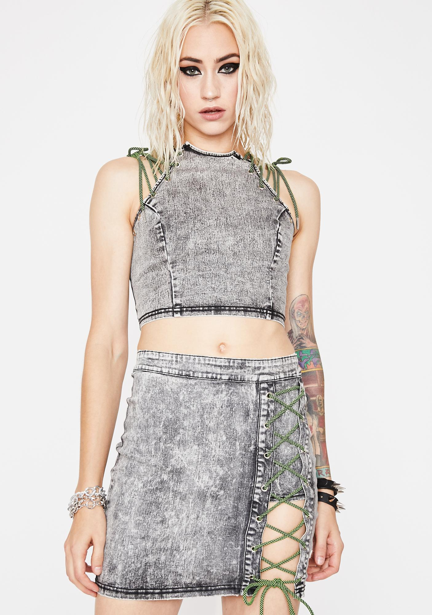 Freakish Ways Lace-Up Skirt
