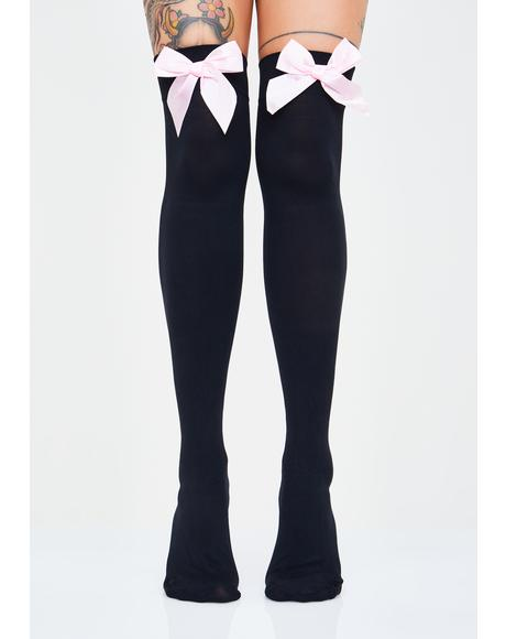 Moon Star Thigh High Socks