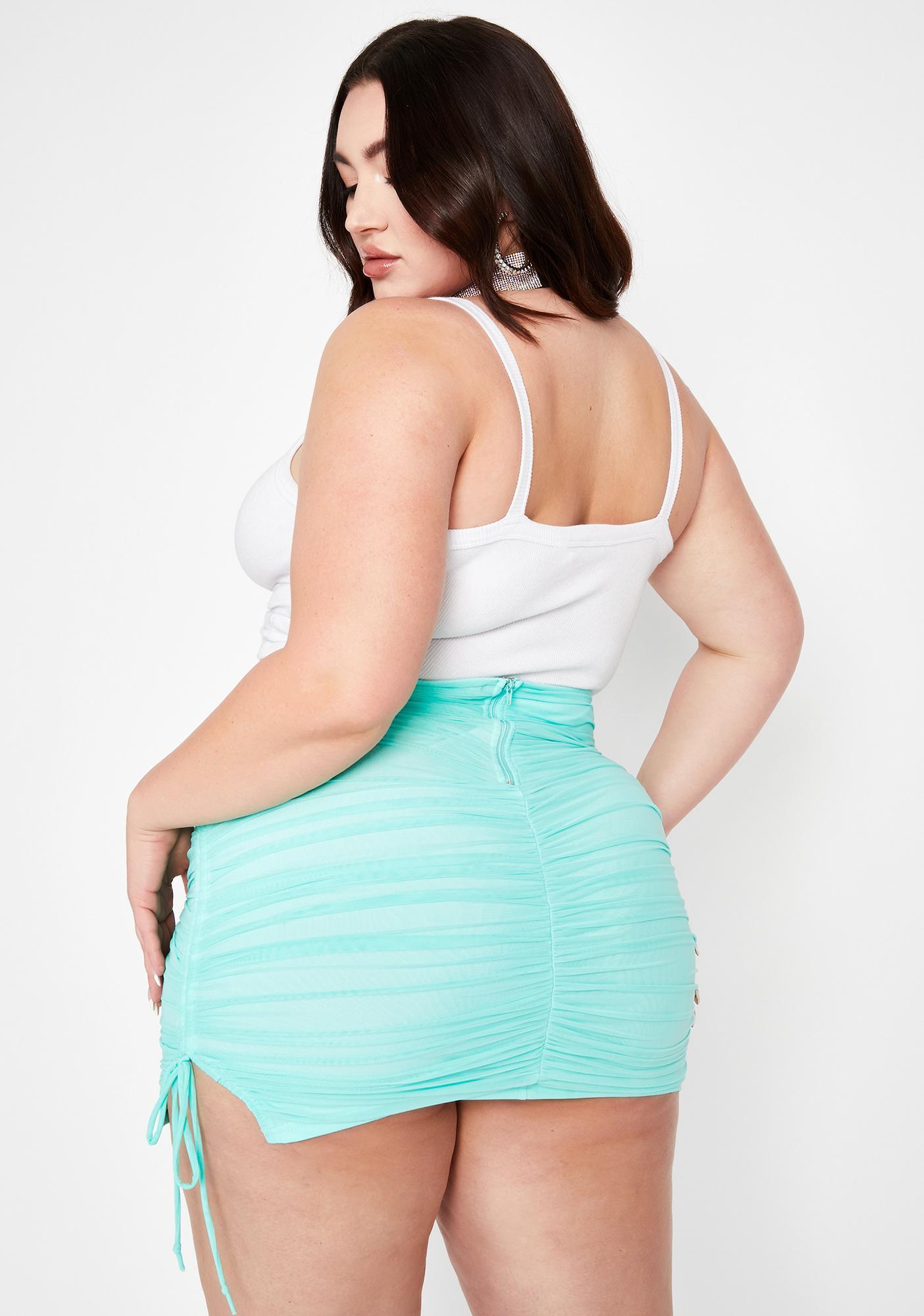 Berry True Got Ur Number Ruched Skirt