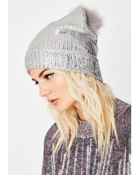 Lit Idea Metallic Beanie