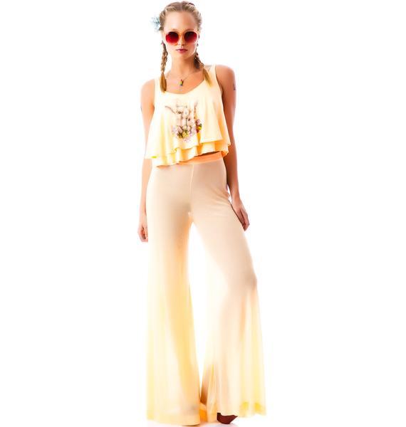 Wildfox Couture 70's Wildfox Thin Rib Heaven Pant