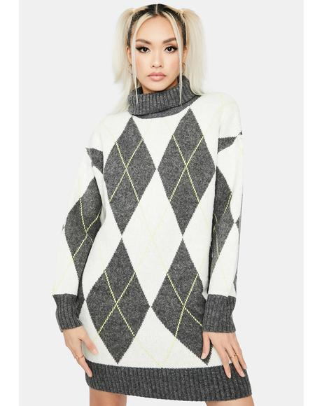 Down The Rabbit Hole Sweater Dress