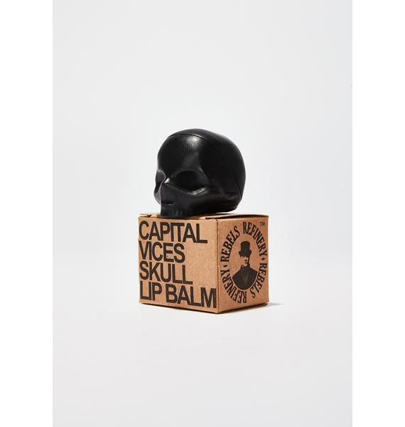 Rebels Refinery Black Capital Vices Skull Lip Balm