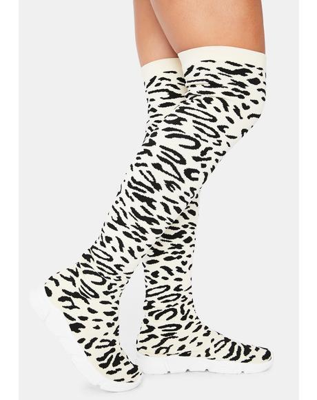 Leopard Dax Thigh High Sneaker Boots