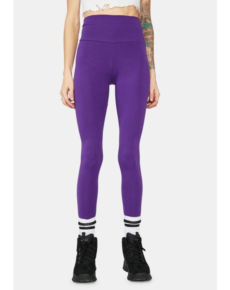 Violet Not A Team Player High Waist Leggings