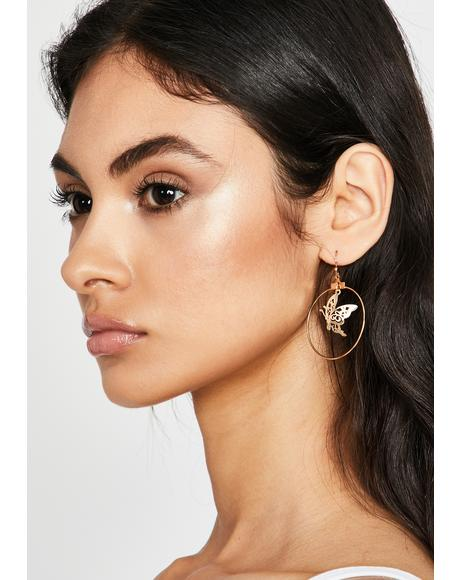 Flawless Flutter Drop Earrings