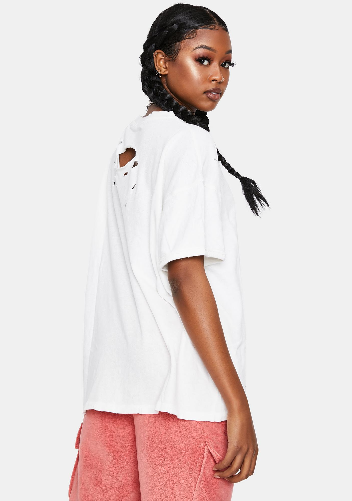 Free People White Rubi Tee