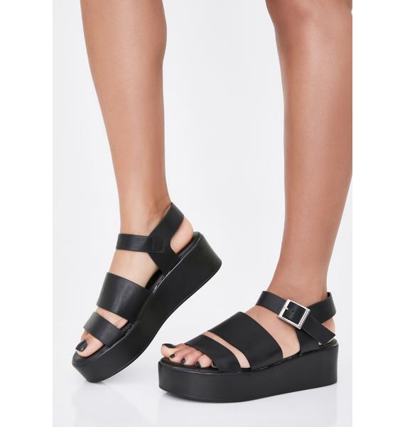 Bonus Check Platform Sandals