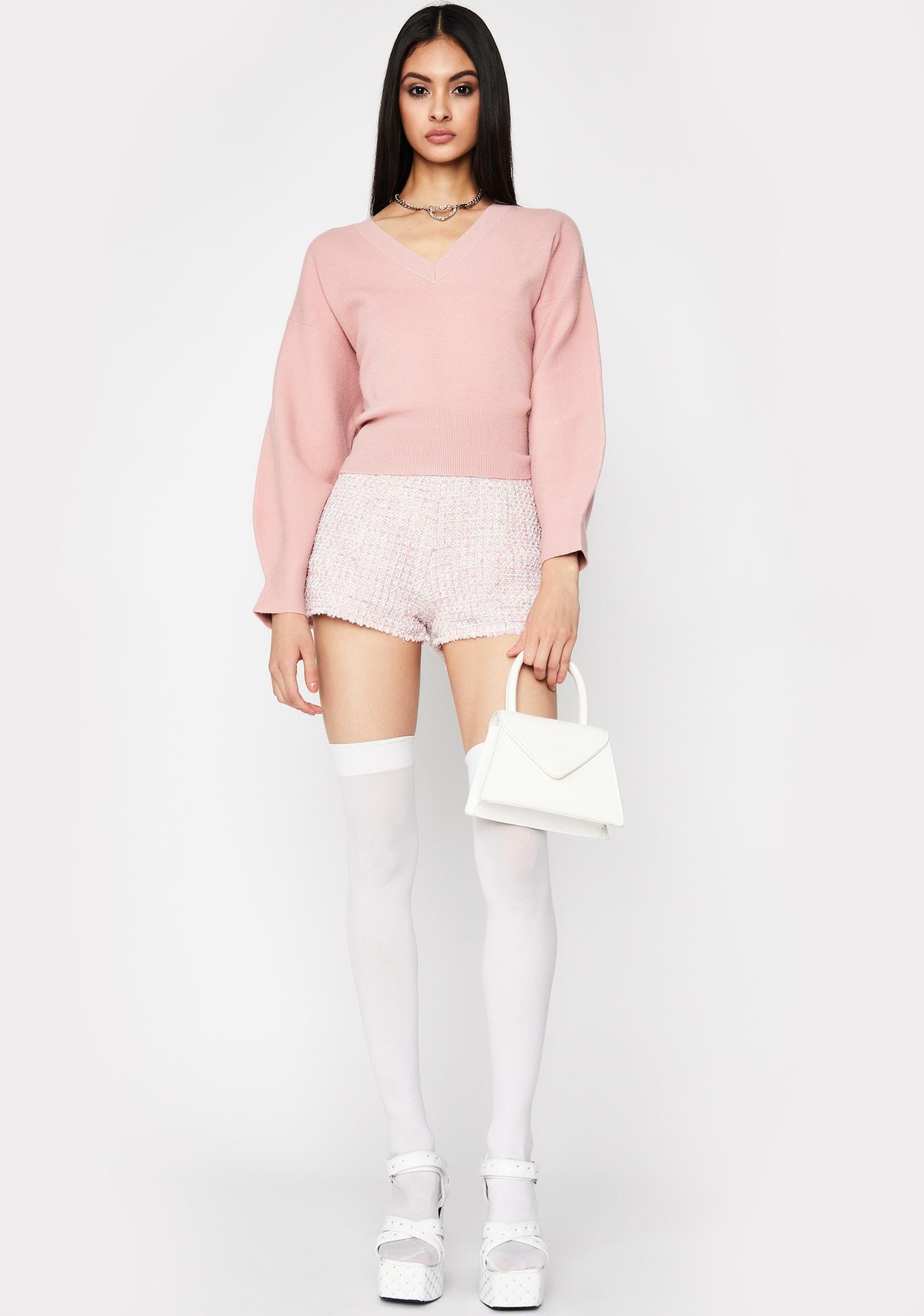 Blush Everyday Babe V Neck Sweater