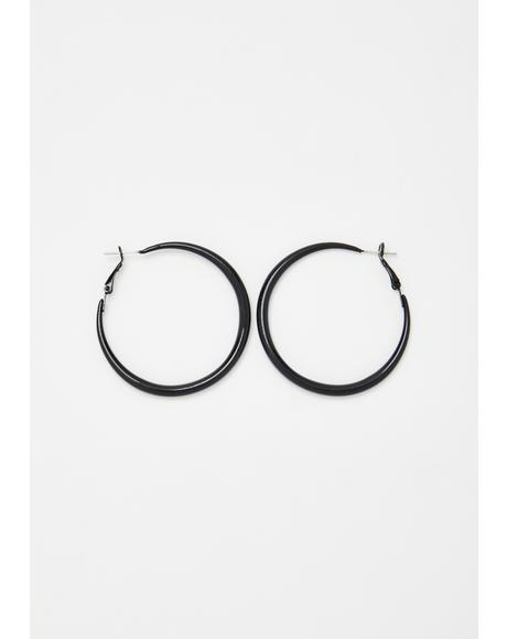Sinister Slay Hoop Earrings