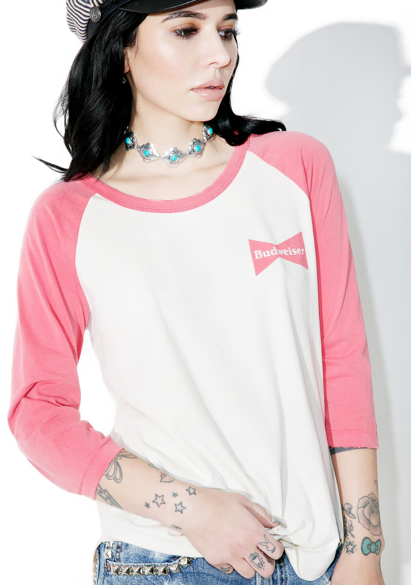 Junk Food Clothing Budweiser Raglan Tee