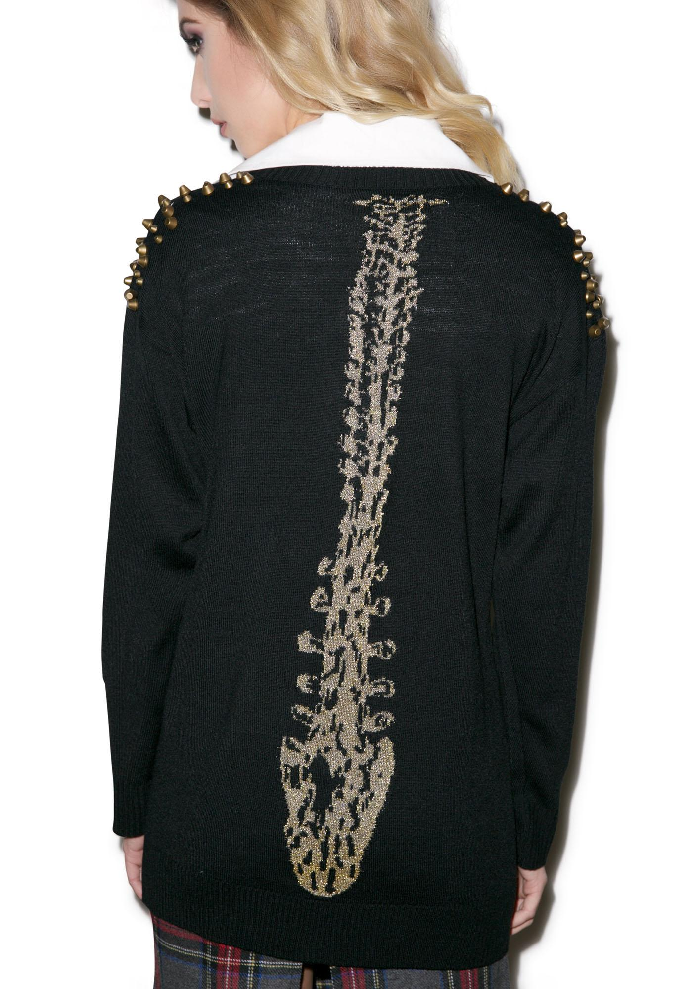 Iron Fist Gold Spineless Cardigan