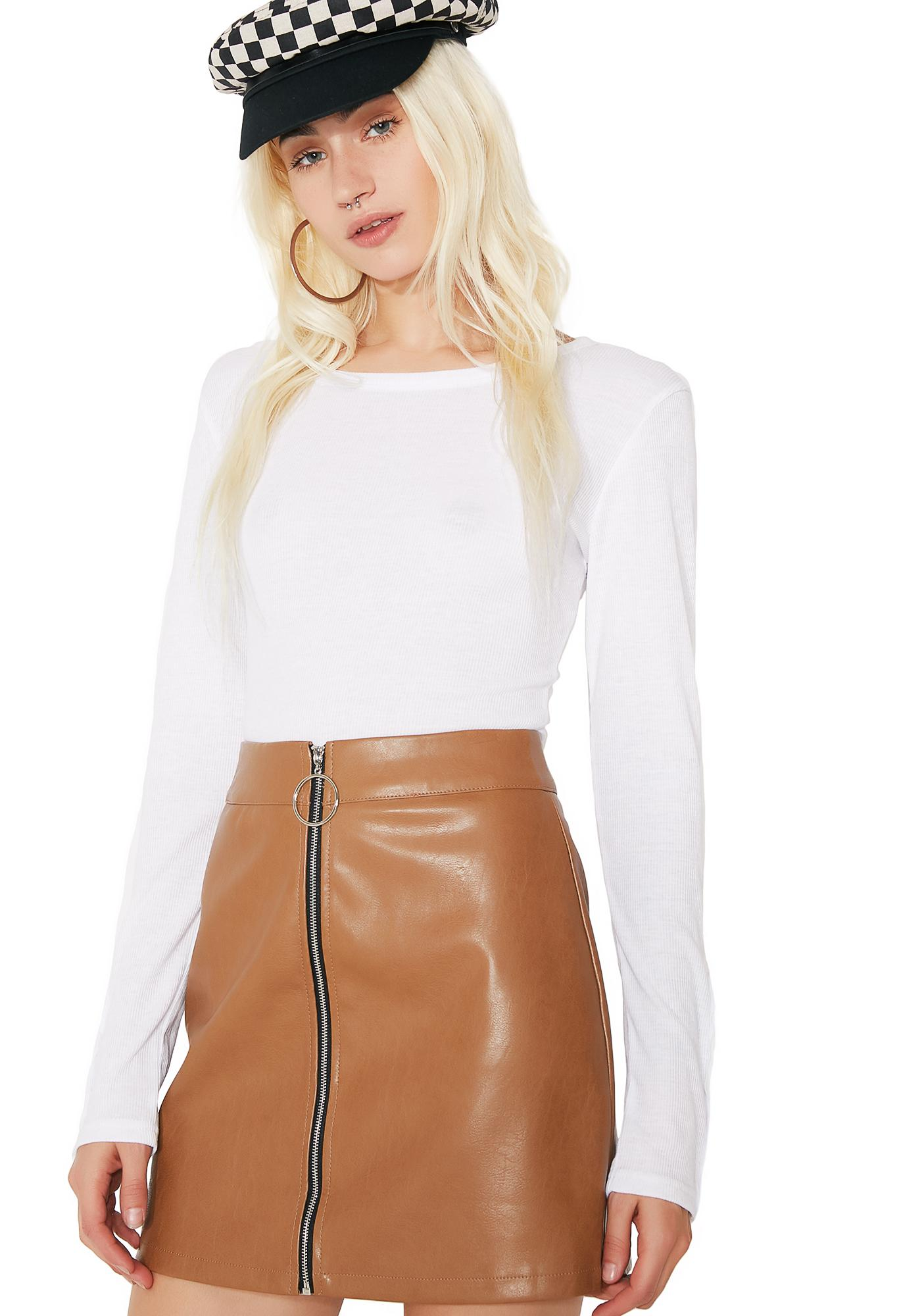 Zip It Mini Skirt