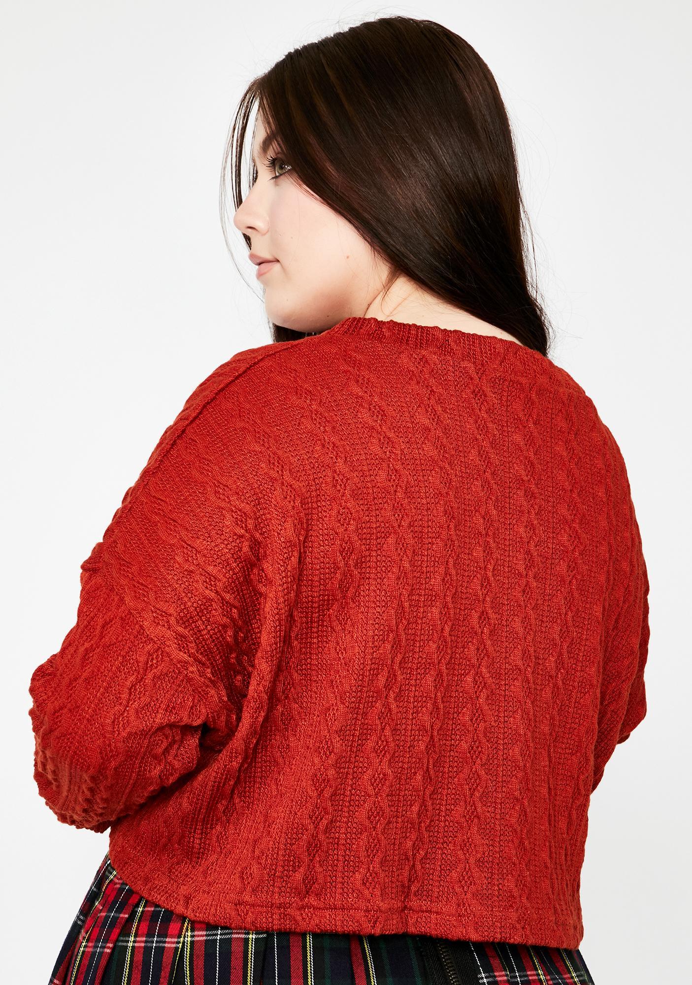 Luxe Tis The Season Knit Sweater