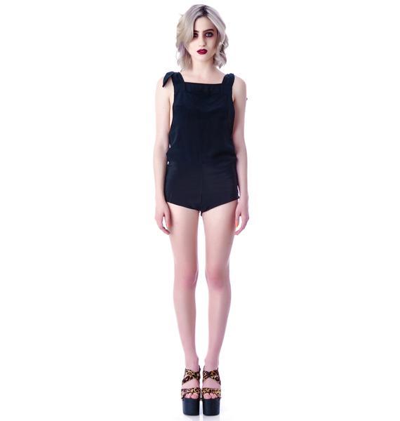 LNA Madison Silk Overall Shorts