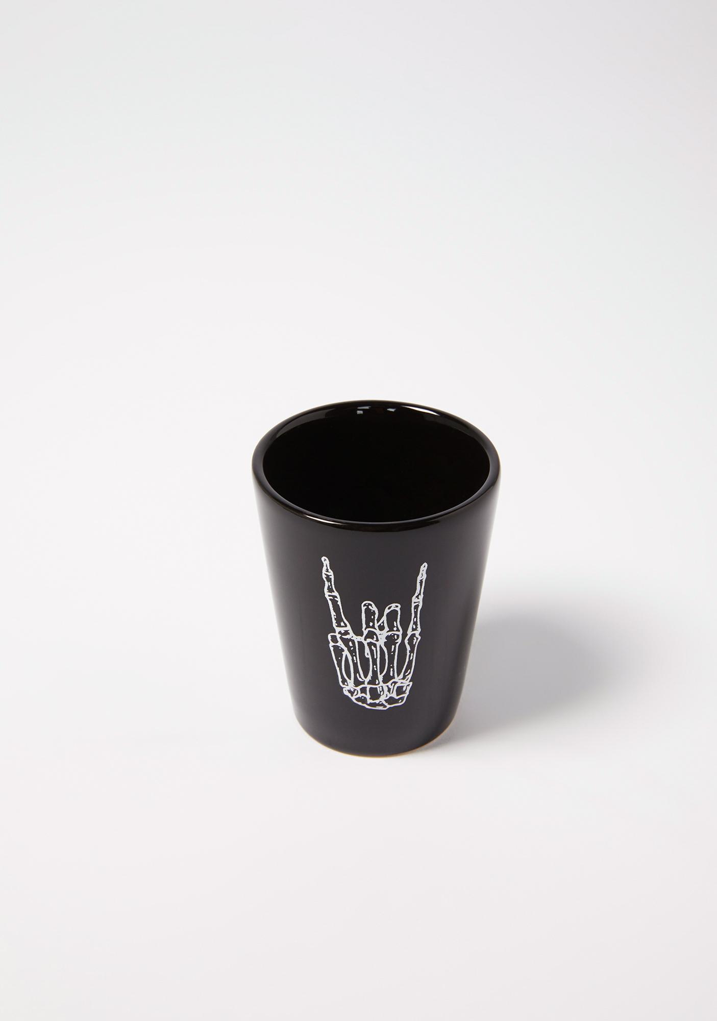 Femfetti Skeleton Rock Hard Shot Glass