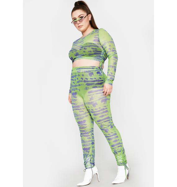 Lime Total Tough Competition Mesh Pants