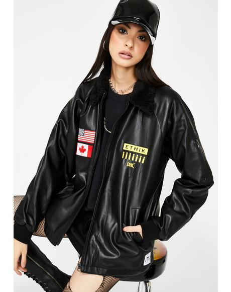 Bomb Squad Vegan Leather Jacket