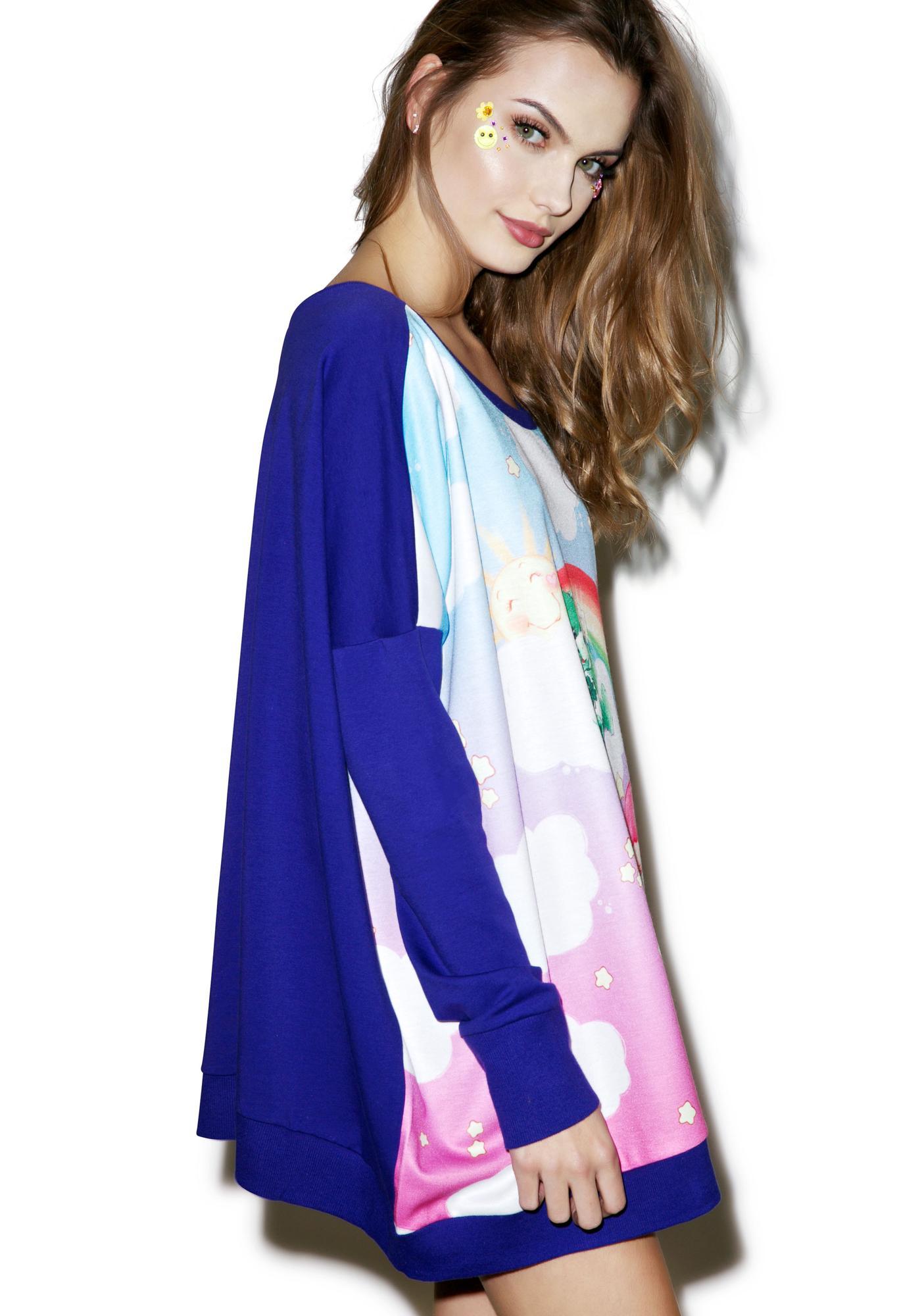 Japan L.A. Little Twin Stars X Care Bears Poncho Sweatshirt