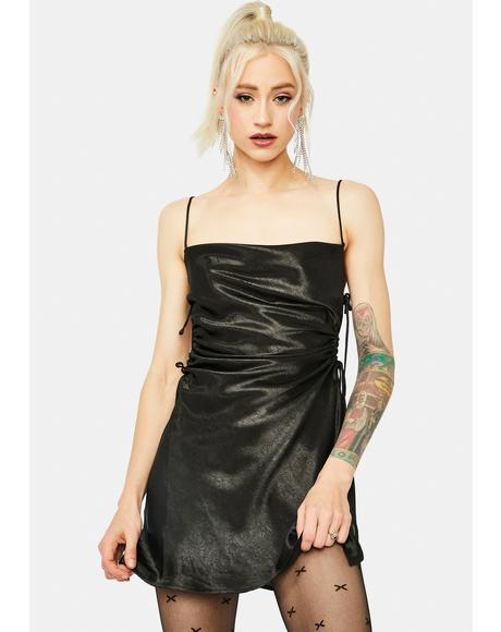 Noir Fierceness Excluded Side Cut Out Mini Dress