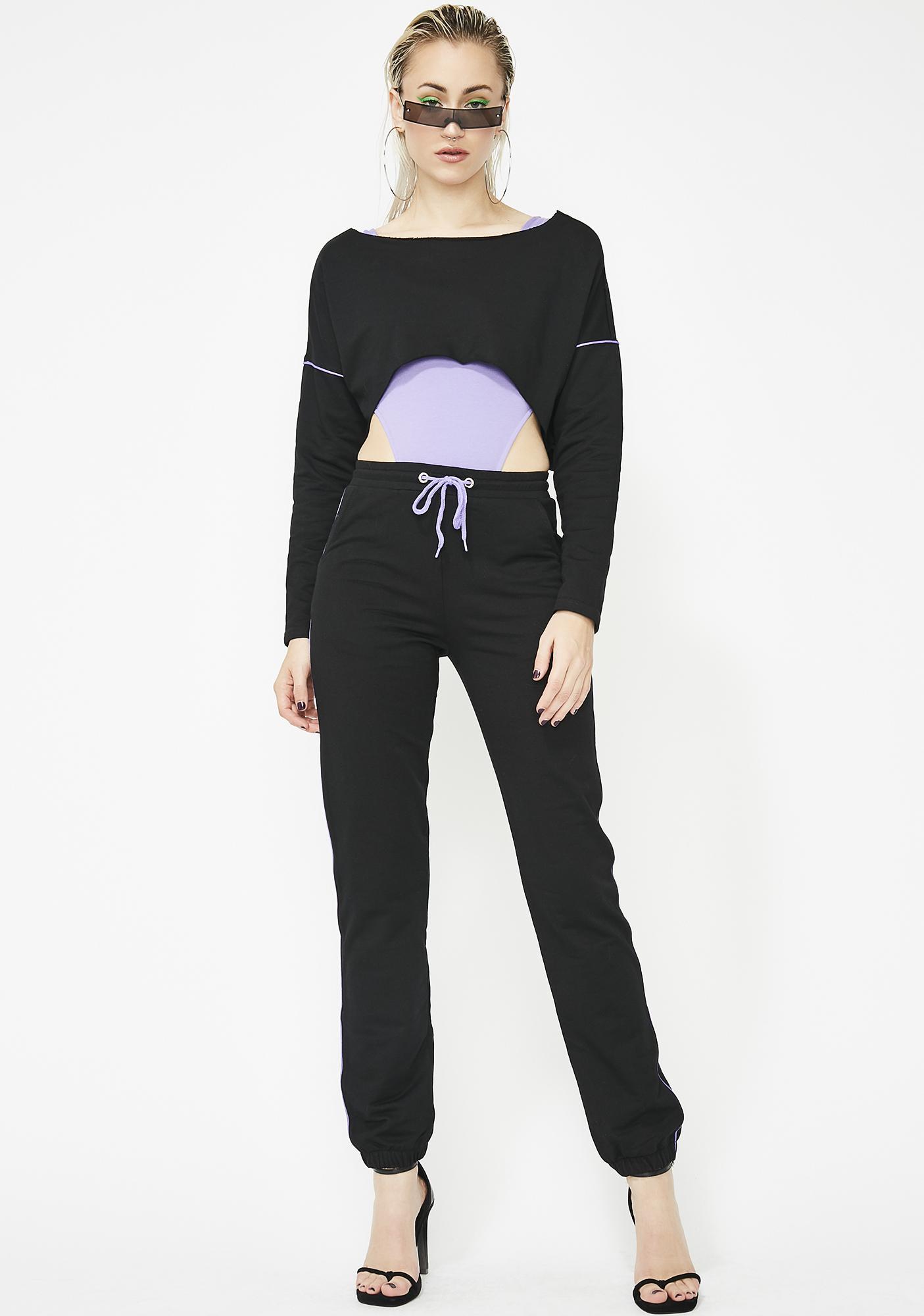 Werk It Girl Crop Sweatshirt
